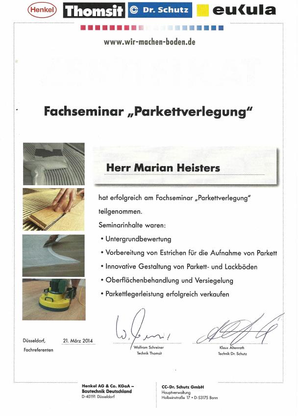 Zertifikat Verlegung